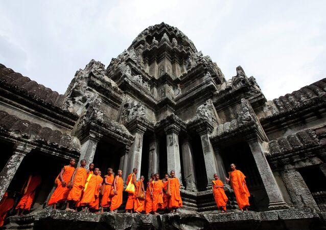Los templos hinduistas de Angkor Wat, de Camboya