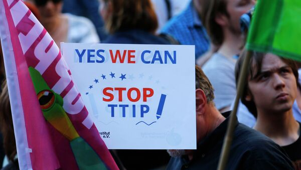 Manifestación contra TTIP en Alemania (Archivo) - Sputnik Mundo