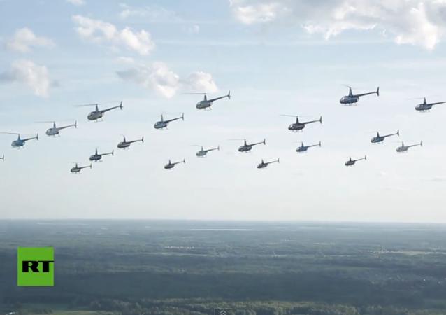 Pilotos de helicópteros rusos establecen un nuevo récord mundial