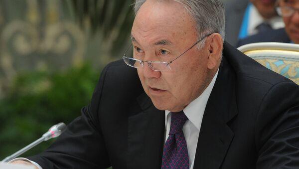 Nursultán Nazarbáev, presidente de Kazajistán - Sputnik Mundo