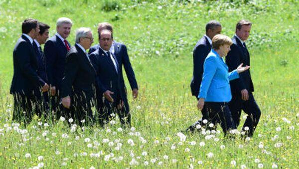 Líderes de los países participantes de G7 - Sputnik Mundo