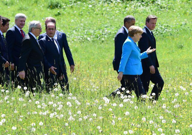 Líderes de los países participantes de G7