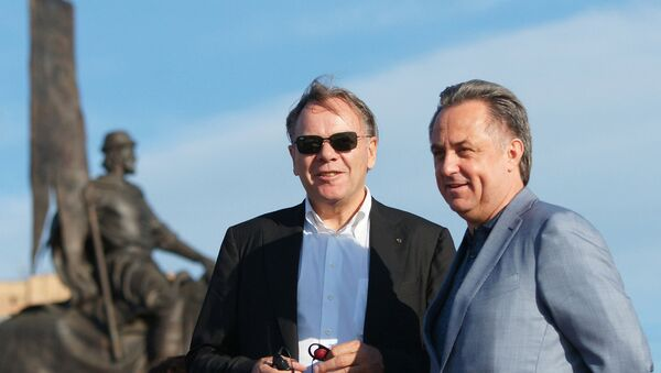 Secretario general de la FIFA, Jerome Valcke y ministro de Deporte de Rusia, Vitali Mutkó - Sputnik Mundo