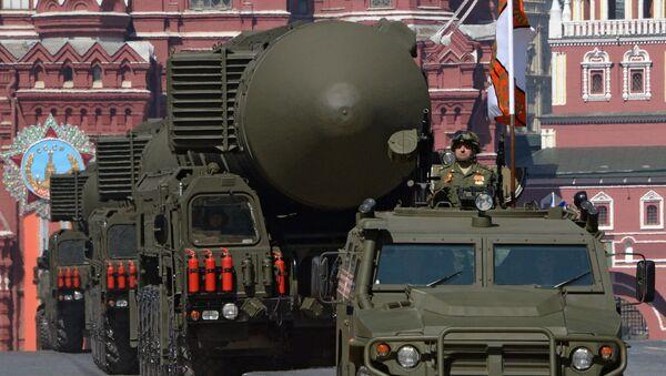 Lanzadera de misiles RS-24 Yars durante el Desfile de la Victoria en la Plaza Roja - Sputnik Mundo