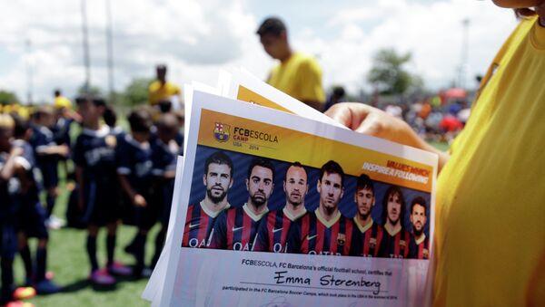 Niños en la escuela de FC Barcelona en Miami (archivo) - Sputnik Mundo