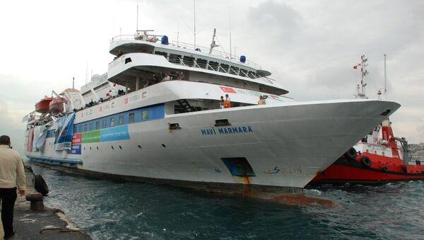 Buque Mavi Marmara saliendo del puerto de Turquía, 2010 - Sputnik Mundo