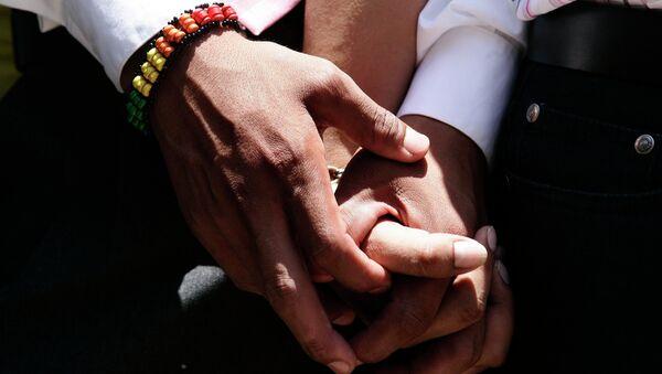 Ceremonia de la boda gay simbólica en Lima - Sputnik Mundo