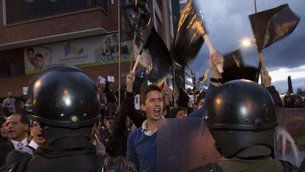 """Protestas por """"ley de herencias"""" refleja polarización en Ecuador - Sputnik Mundo"""