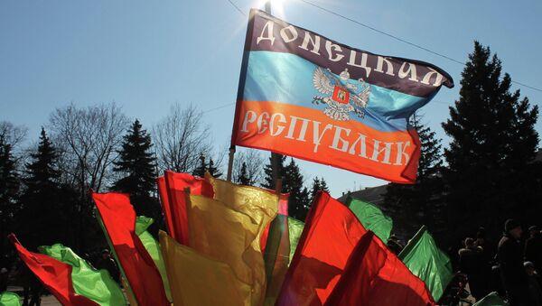 Bandera de DNR - Sputnik Mundo