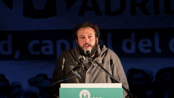 Guillermo Zapata, concejal de cultura y deportes de Madrid, el 24 de mayo, 2015 - Sputnik Mundo