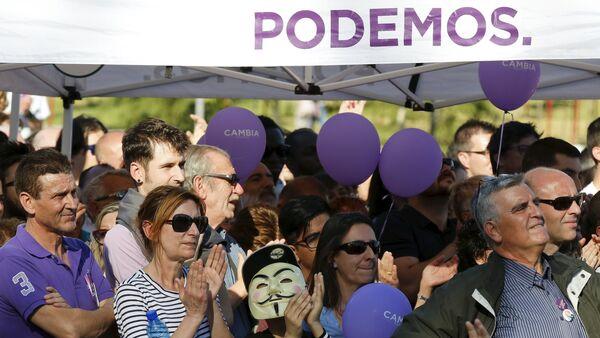 Marcha en apoyo del movimiento Podemos en Madrid - Sputnik Mundo