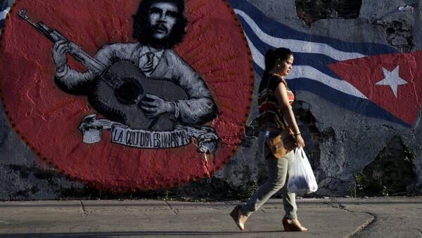 Grafiti en Cuba (archivo) - Sputnik Mundo