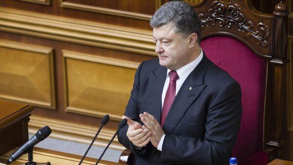 Petró Poroshenko, presidente de Ucrania en la Rada Suprema (Parlamento de Ucrania) - Sputnik Mundo
