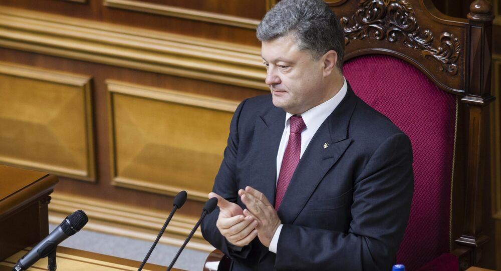 Petró Poroshenko, presidente de Ucrania en la Rada Suprema (Parlamento de Ucrania)