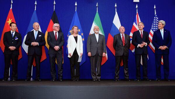 Representantes del Grupo 5+1, de la UE y de Irán en Suiza - Sputnik Mundo