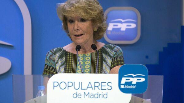 Esperanza Aguirre, presidenta del Partido Popular - Sputnik Mundo