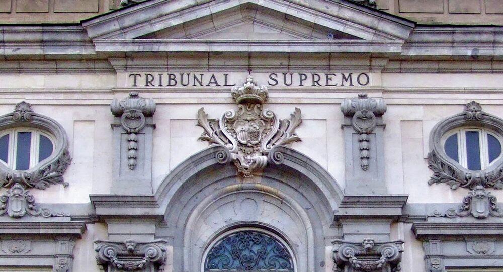 Fachada del edificio del Tribunal Supremo