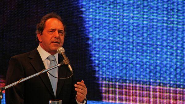 Daniel Osvaldo Scioli, precandidato por el Frente para la Victoria - Sputnik Mundo