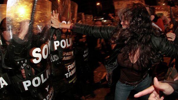Protesta contra los proyectos de Ley de herencia y plusvalía. Quito, 21 de junio de 2015 - Sputnik Mundo