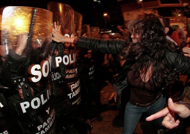 Protesta contra los proyectos de Ley de herencia y plusvalía. Quito, 21 de junio de 2015