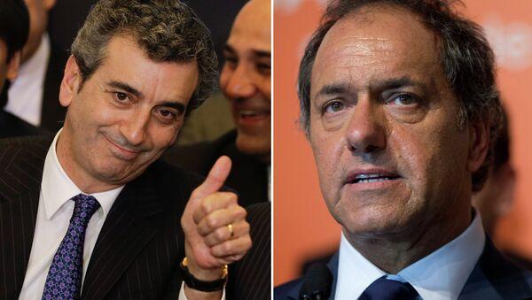 Florencio Randazzo y Daniel Scioli - Sputnik Mundo