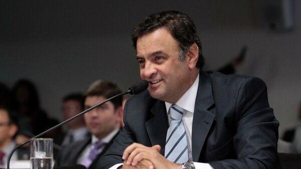 Aécio Neves, líder de la oposición de Brasil y senador por el Partido de la Social Democracia de Brasil (PSDB) - Sputnik Mundo