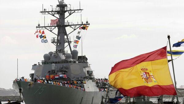 USS Donald Cook,destructor de clase Arleigh Burke, llega a Rota, España - Sputnik Mundo