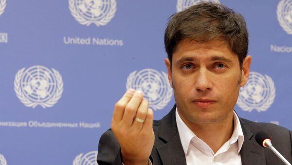 Axel Kicillof ministro de Economía de Argentina (archivo) - Sputnik Mundo
