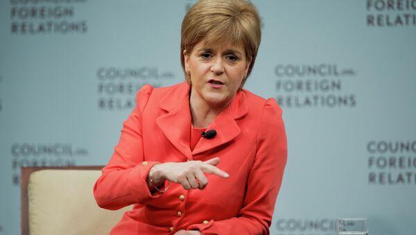 Nicola Sturgeon, ministra principal de Escocia, responde a preguntas durante el Consejo de Relaciones Exteriores en Washington, jueves, 11 de junio de 2015 - Sputnik Mundo