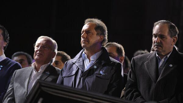 Candidato a la presidencia de Argentina Daniel Scioli - Sputnik Mundo