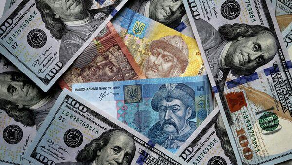 Dolares de EEUU y grivnas de Ucrania - Sputnik Mundo