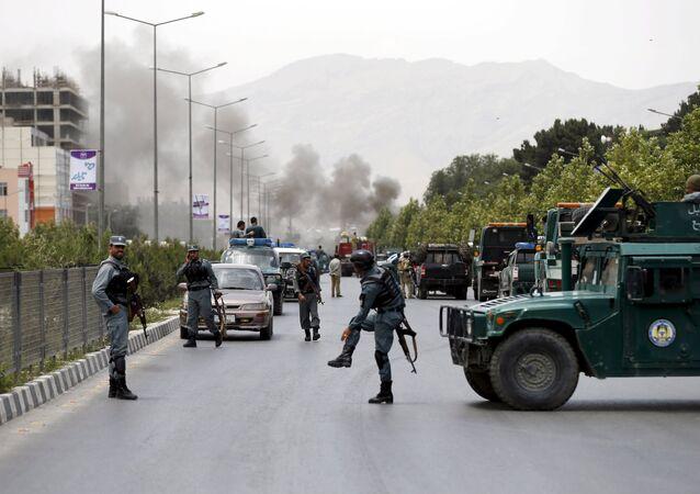 Lugar del atentado contra el Parlamento de Afganistán. Kabul. 22 de junio de 2015