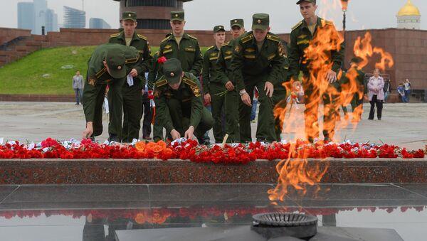 Moscú homenajea a los caídos en la Gran Guerra Patria, el 21 de junio, 2015 - Sputnik Mundo