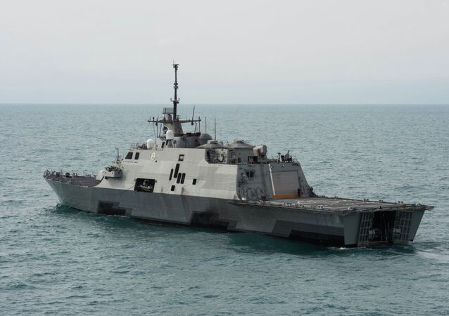 El buque estadounidense USS Fort Worth (LCS 3)