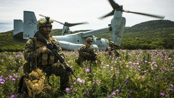 Marines estadounidenses en Sierra Del Retin, España - Sputnik Mundo