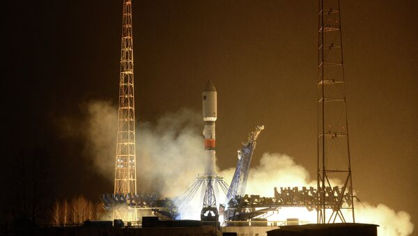 Start of the carrier rocket Soyuz-2.1b with the new 'Glonass-K' satellite  from Plesetsk Cosmodrome - Sputnik Mundo