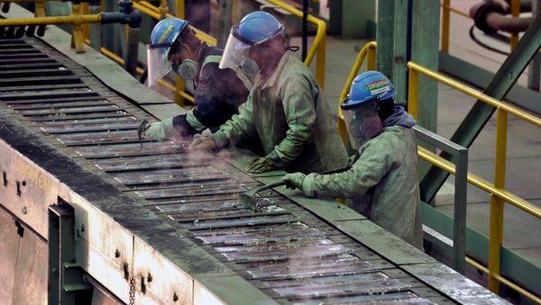 Trabajadores en Bolivia (archivo) - Sputnik Mundo
