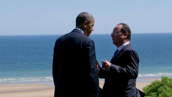 Presidente de EEUU, Barack Obama y presidente de Francia, François Hollande - Sputnik Mundo