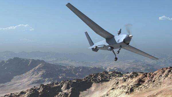 El dron Atlante (acrónimo de Avión Táctico de Largo Alcance no Tripulado Español) - Sputnik Mundo