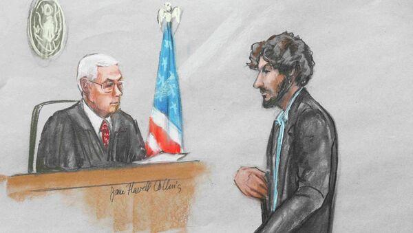Dzhokhar Tsarnaev en el Tribunal del Distrito de Massachusetts - Sputnik Mundo