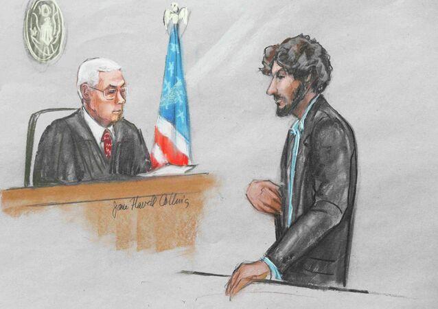 Dzhokhar Tsarnaev en el Tribunal del Distrito de Massachusetts