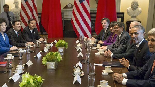 Barack Obama, presidente de EEUU, durante la reunión con la delegación china - Sputnik Mundo