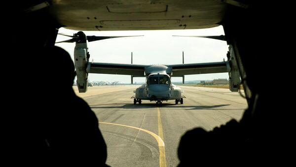 Avión militar de EEUU en la base de Morón de la Frontera - Sputnik Mundo