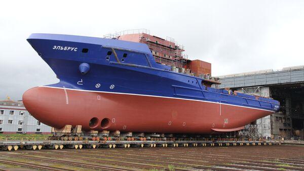 El nuevo barco Elbrús del proyecto 23120 - Sputnik Mundo