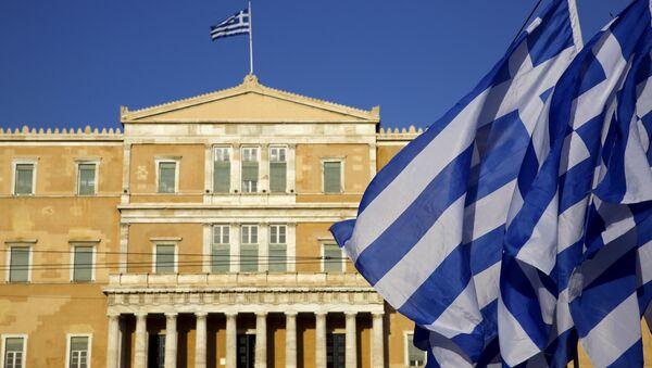 Bandera de Grecia en Atenas - Sputnik Mundo