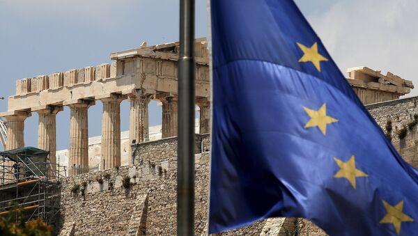 Bandera de la UE en Grecia - Sputnik Mundo