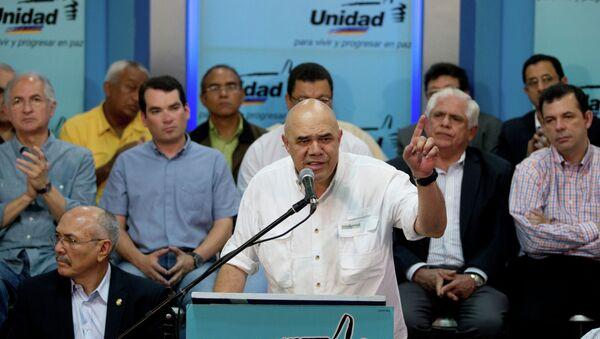 Jesús Torrealba, el secretario ejecutivo de la MUD - Sputnik Mundo