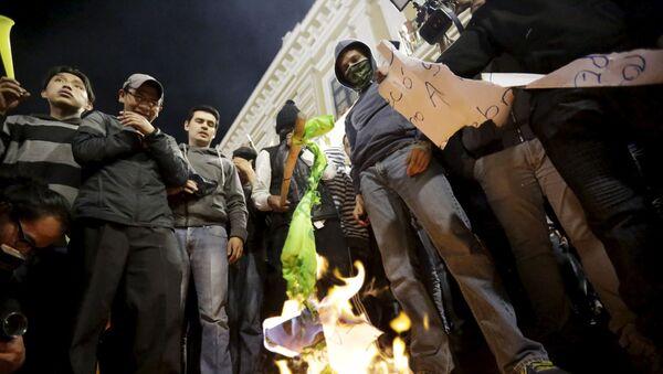 Protestas opositoras en Quito - Sputnik Mundo