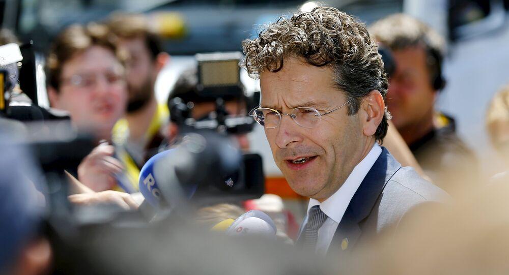 Jeroen Dijsselbloem, presidente del Eurogrupo, en Bruselas, Bélgica, el 25 de junio, 2015