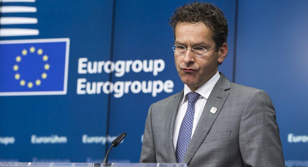 Jeroen Dijsselbloem, presidente del Eurogrupo en Bruselas